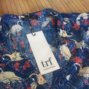 ZARA tropical print blouse